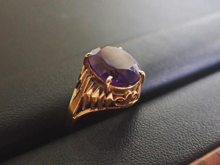 【ジュエリーリフォームフェア開催中】アメジストの指輪のジュエリーリフォームをご用命頂きました。