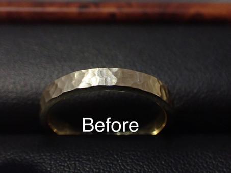 【指輪修理実例】着けていると痛みがある結婚指輪を調整しました。