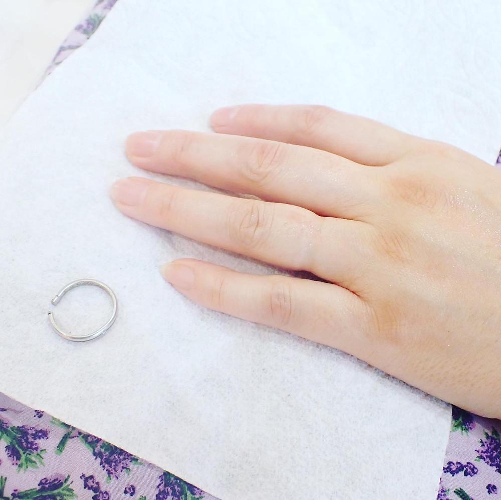 結婚指輪切断 マリッジリング切断 リングリメイク 指輪修理 ジュエリー修理 山形県山形市 宝石店 ジュエリーショップ アトリエジェムカフェ