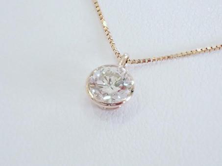 【ジュエリーリフォーム実例】1ctのダイヤモンドリングをネックレスにジュエリーリフォーム致しました。
