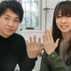 【N0.5】重ね付けできるV字形の結婚指輪と婚約指輪