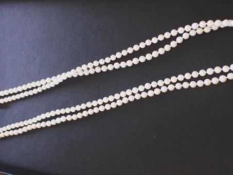 【あこや真珠】ベビーパールのロングネックレスをご用命頂きました。