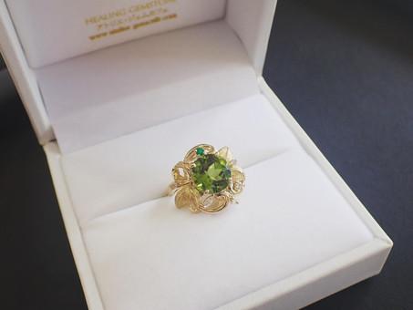 【ジュエリー作家滝田孝次作品】ペリドットのリングをご用命頂きました。