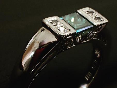 【指輪新品仕上げ実例】プラチナリングの新品仕上げをご用命頂きました。