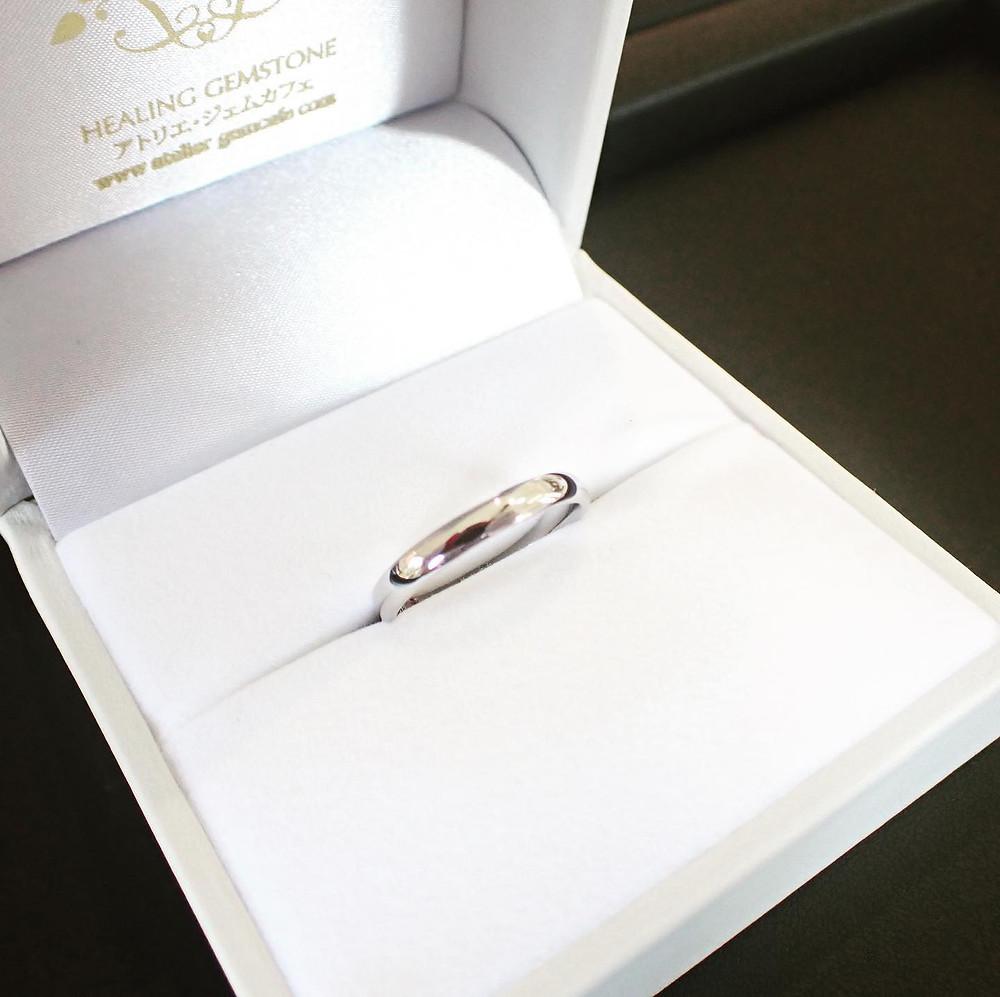 結婚指輪 婚約指輪 マリッジリング ブライダルリング 男性用 オーダーメイドリング プラチナ 山形県山形市 宝石店 ジュエリーショップ アトリエジェムカフェ