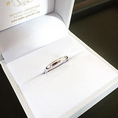 男性用に製作したシンプルな結婚指輪。
