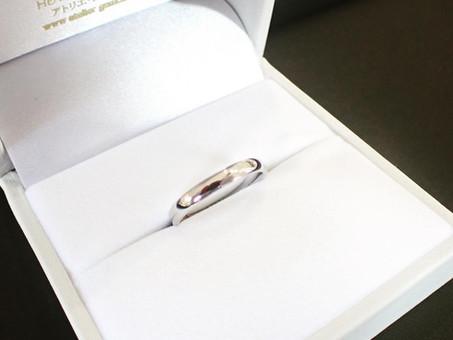 【結婚指輪製作実例】シンプルなマリッジリングをお仕立てさせて頂きました。