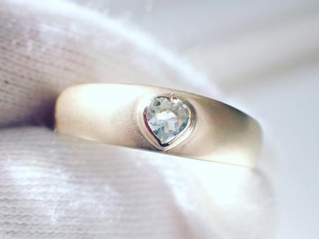 【ジュエリーリフォーム実例作品】日常使いしやすいデザインの指輪にジュエリーリフォーム致しました。