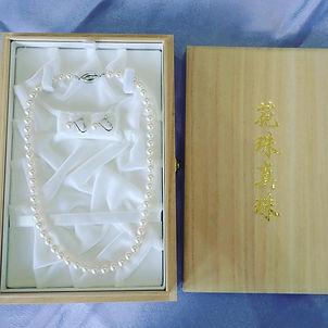 花珠真珠 オーロラ花珠 あこや真珠 アコヤパール 冠婚葬祭 20歳の記念 ネック