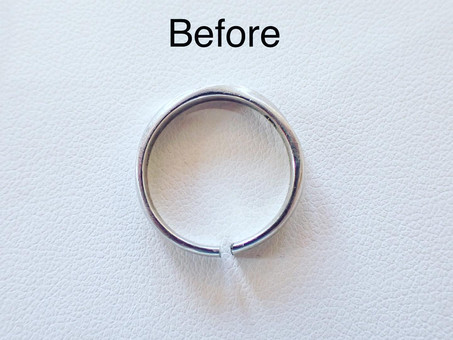 【結婚指輪をぴかぴかに】切断したマリッジリングをロー付け&新品仕上げしました。
