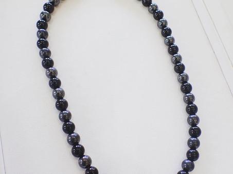 【ネックレス修理実例】切れてしまった天然石のネックレスを修理しました。
