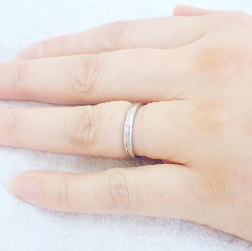 結婚指輪 マリッジリング 切断 プラチナ 金 薬指の指輪 リングカッター ジュエリーリフォーム 山形県山形市 宝石店 ジュエリーショップ アトリエジェムカフェ