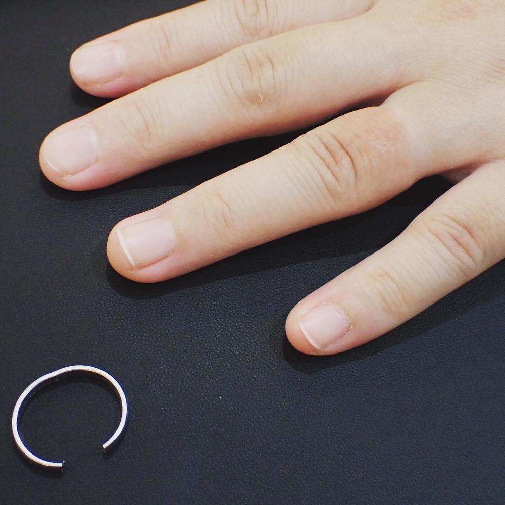 指輪切断実例 リング切断実例 マリッジリング修理 結婚指輪サイズ直し ジュエリー修理実例 山形県山形市 宝石店 ジュエリーショップ アトリエジェムカフェ