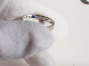 アウィナイト インサイドストーン 薬指の指輪 プラチナリング オーダーメイドリング 結婚指輪 婚約指輪 アトリエジェムカフェ