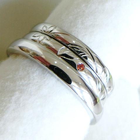 【オーダーメイド】S様ご夫妻の結婚指輪と婚約指輪