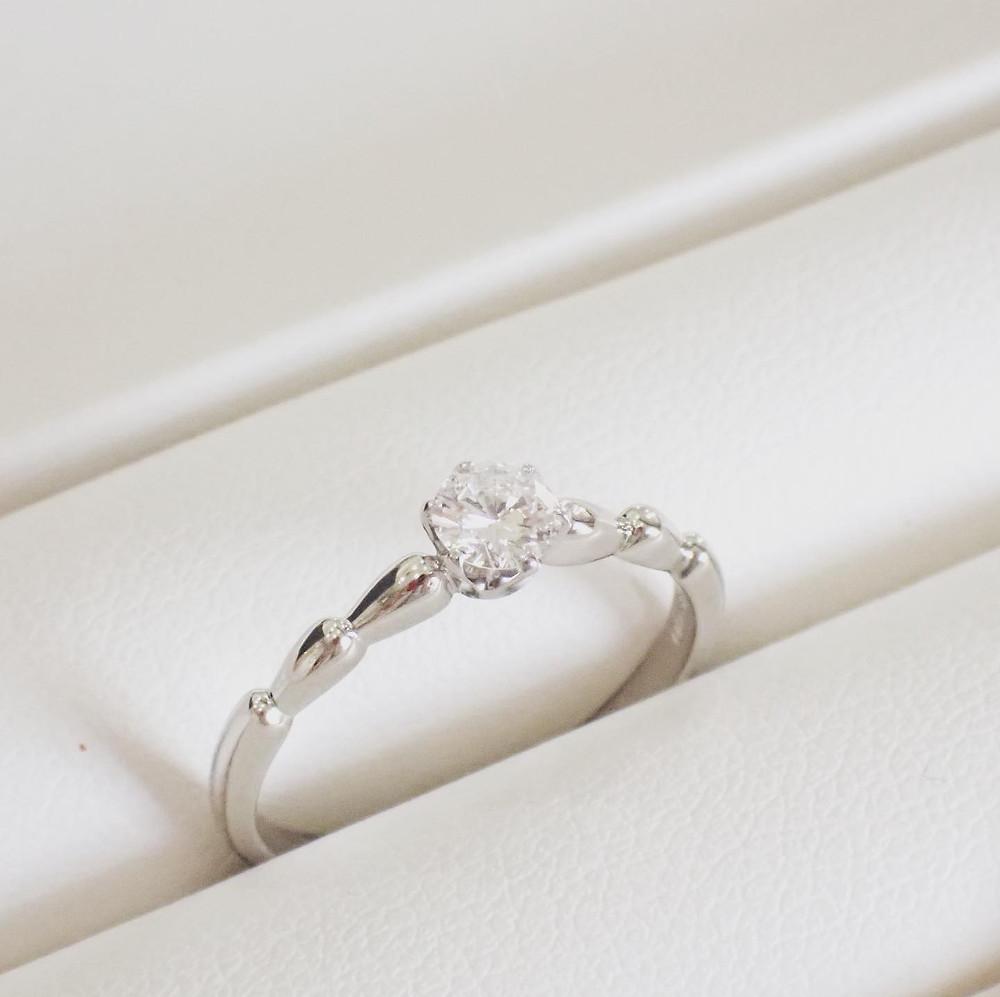 婚約指輪 エンゲージリング サイズ直し 新品仕上げ プラチナ ダイヤモンド リング 指輪 山形県山形市 宝石店 ジュエリーショップ アトリエジェムカフェ