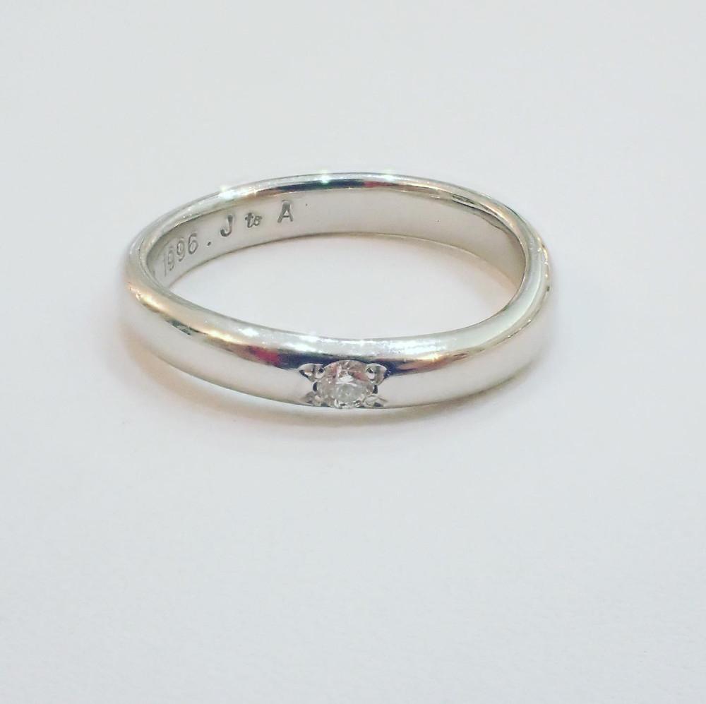 結婚指輪 ジュエリーリフォーム サイズ直し 純プラチナ プラチナ リング 指輪 マリッジリング ブライダルリング ダイヤモンド 山形県 山形市 宝石店 ジュエリーショップ