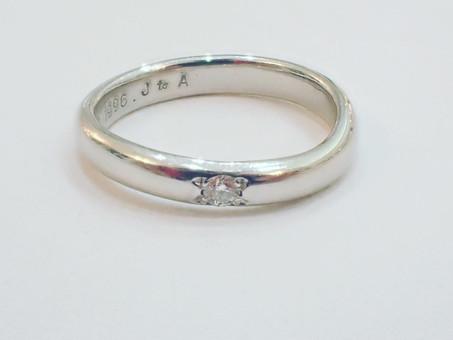 【指輪のサイズ直し】結婚指輪のサイズ直しをご用命頂きました。