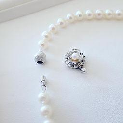 金具交換 真珠ネックレス アコヤ真珠 糸交換 山形県 山形市 宝石店 ジュエリー