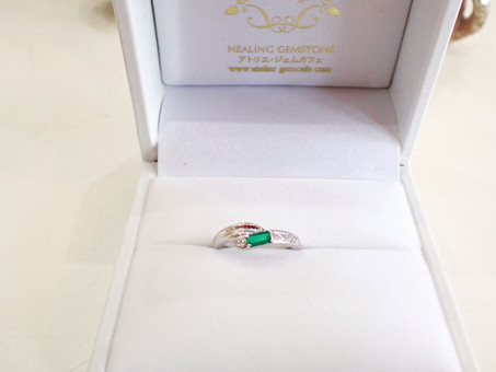【デザイナーズジュエリー】 エメラルドの指輪をご用命頂きました💍