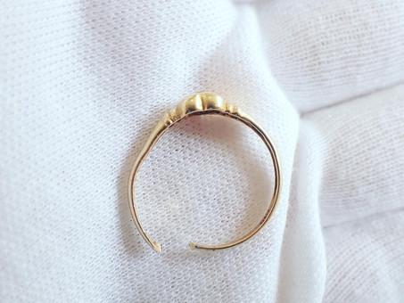 【 ジュエリーリフォーム】骨折の際に治療のため切ってしまった指輪を新しいデザインにジュエリーリフォームします。