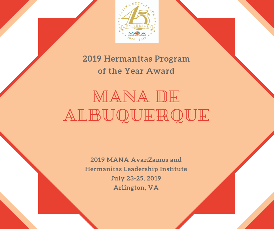 2019 Hermanitas Program Award_ABQ