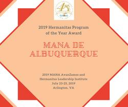 2019 Hermanitas Program Award_ABQ