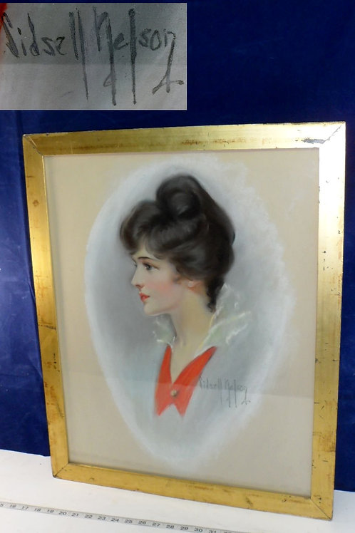 Chalk Drawing Portrait Of A Woman By Gidsell Nelson