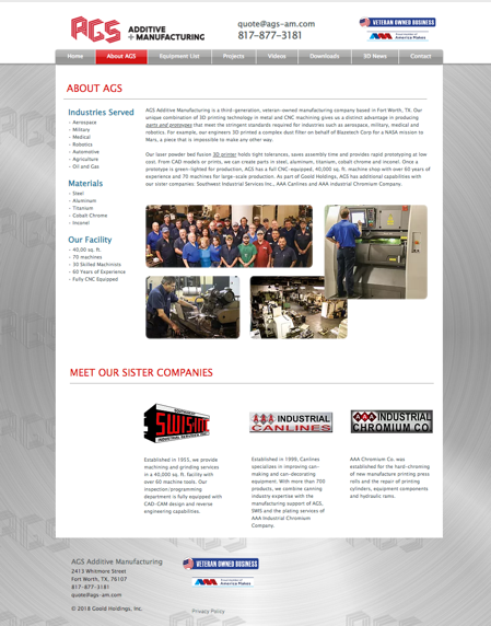 Durning Communications website 6