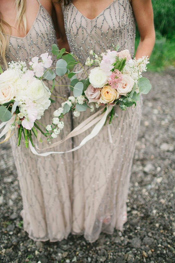 Beaded Bridesmaids Dresses