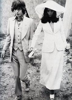 Mick Jagger and Bianca Jagger