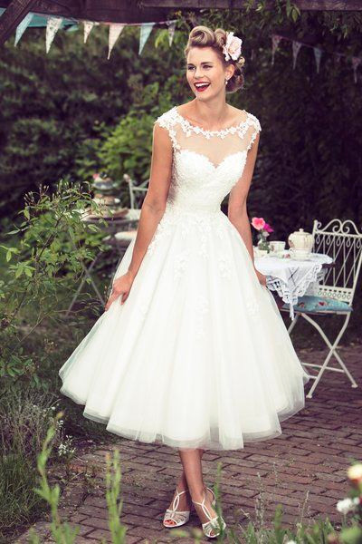 50's inspired wedding dress