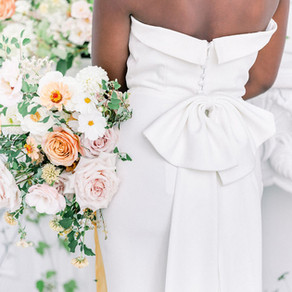 """Featured in WedLuxe - """"A Pop of Yellow in a Wild Garden Dreamscape"""""""