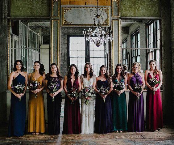 Deep Jewel Tone Bridesmaids Dresses