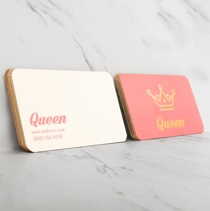 Business Cards (soft touch)