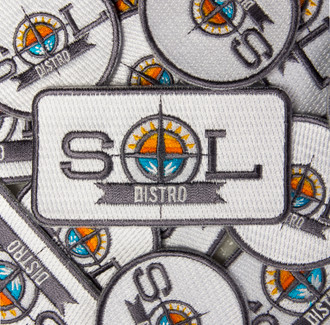 Fully Embroidered Iron-On Patches