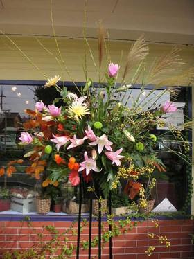 オープンのスタンド花