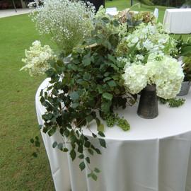 ガーデンウェディング装花