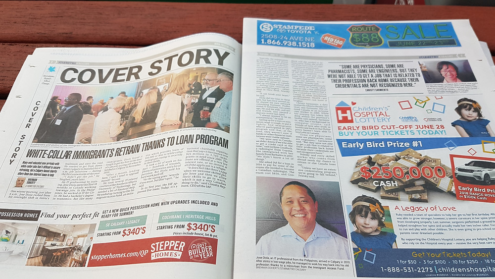 June 21, 2018 Coverage of IAF in The Star Calgary