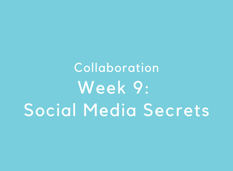 Week 9: Social Media Secrets