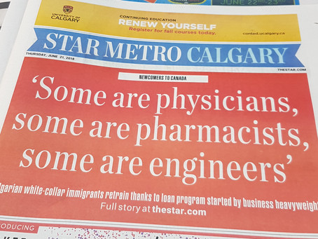 Front Page Coverage with The Star Metro Calgary