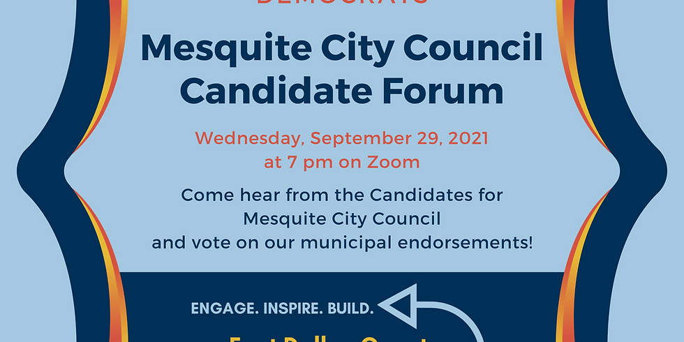 September Monthly Meeting and Mesquite City Council Candidate Forum