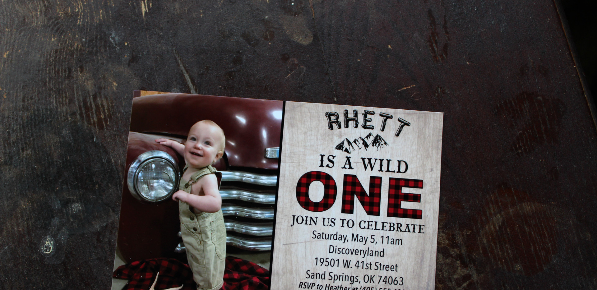 Rhett's 1st Birthday Invitation