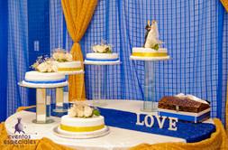 pastel queques decoracion especial  de lujo cristaleria adornos para bodas