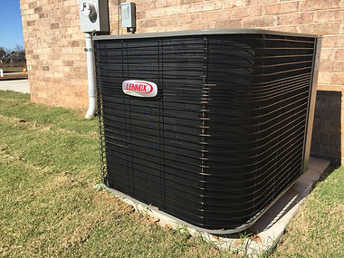 A new Lennox heat pump installed on a remodeled home in Stillwater.