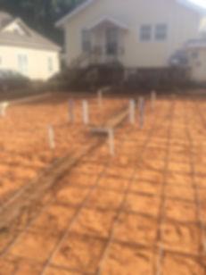 An Advantage ground job on a new construction duplex.