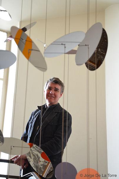 Philippe Leblanc artiste belge art géométrique et code couleurs