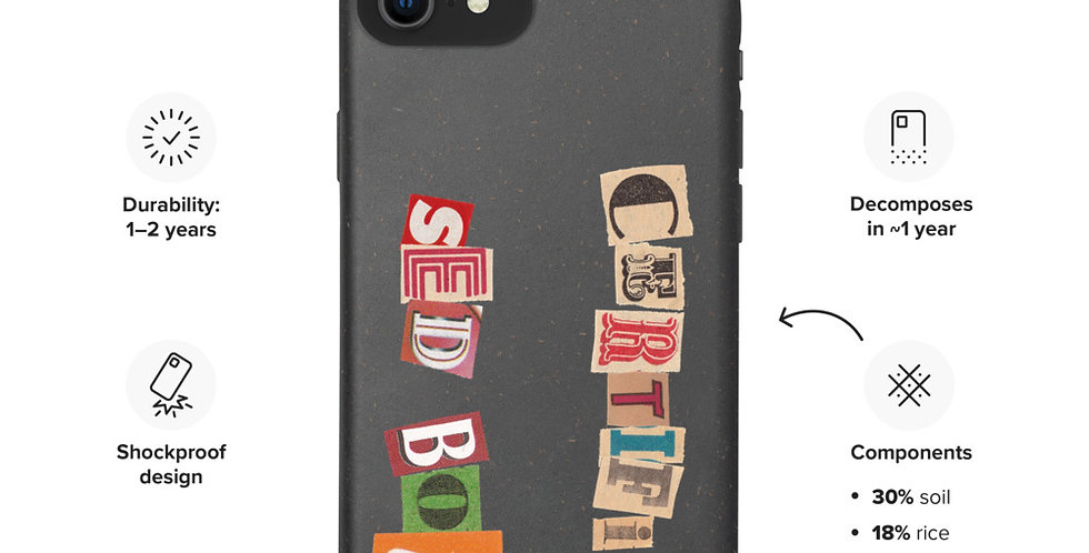 Certified Sed Boi Biodegradable phone case