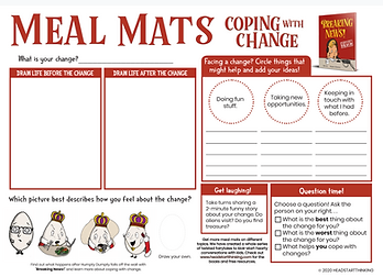 Coping with Change Meal Mat