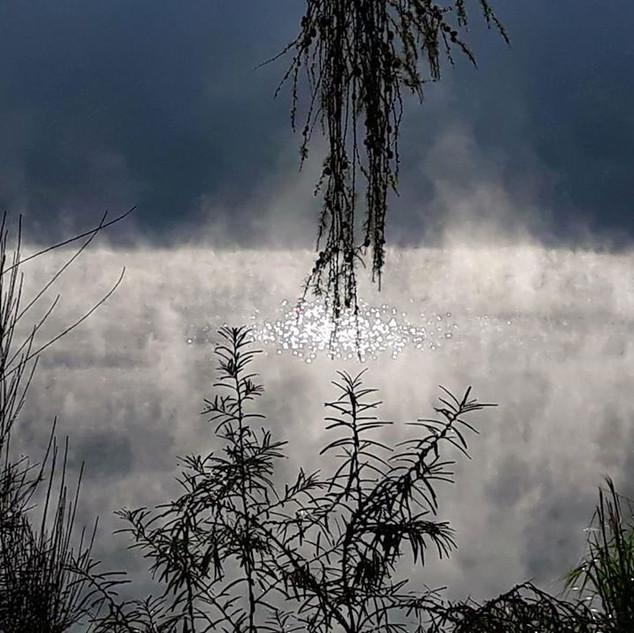 Pohled na zimní řeku